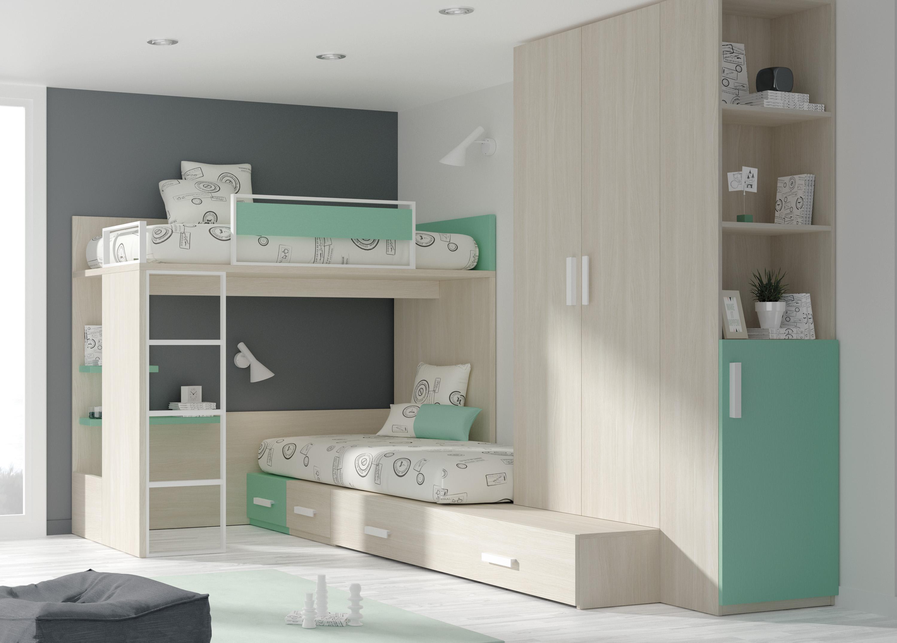 Dormitorio juvenil 214 star center senia - Muebles de la senia ...